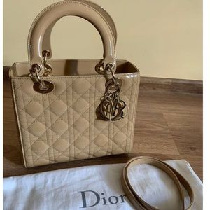 Dior lady Dior Nude medium patent